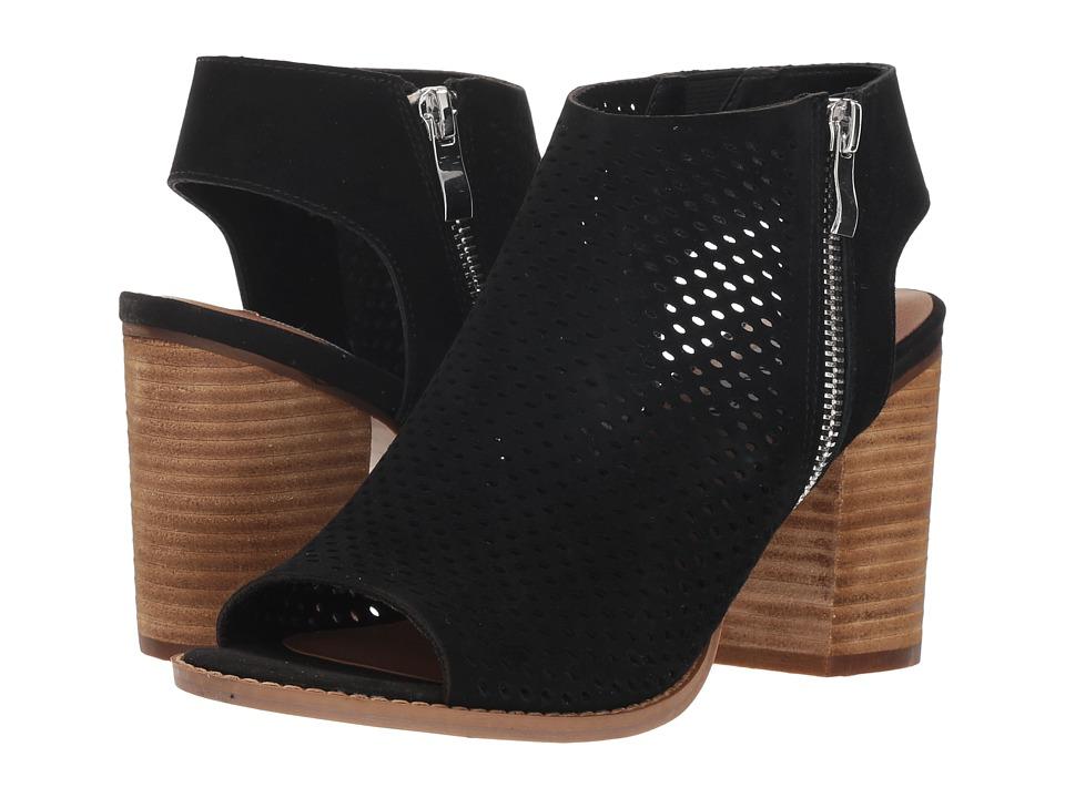 Steve Madden Abigail Heel (Black Suede) Women's Shoes