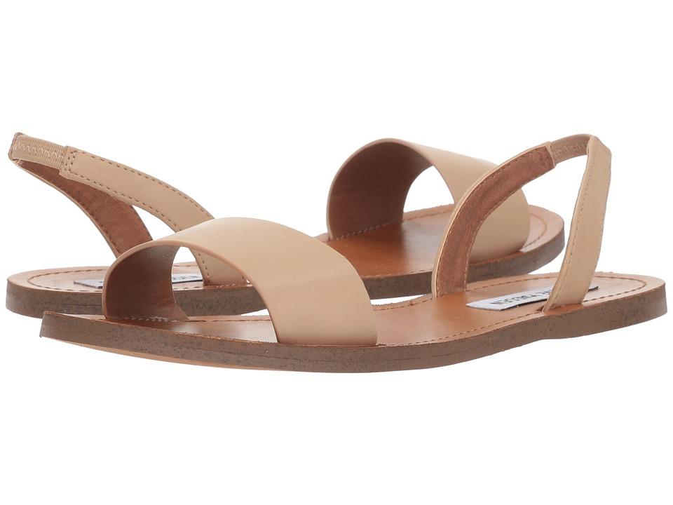 Steve Madden ALINA - Slingback Flat Sandal (Natural) Sandals