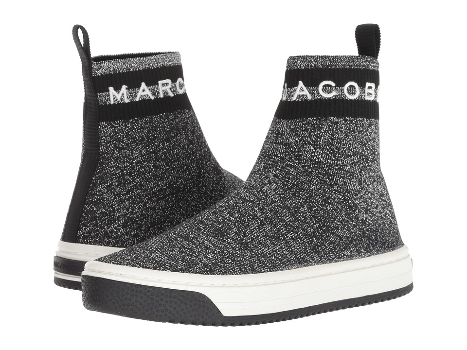 Marc Jacobs Dart Sock Sneaker (Silver Multi) Women's Shoes