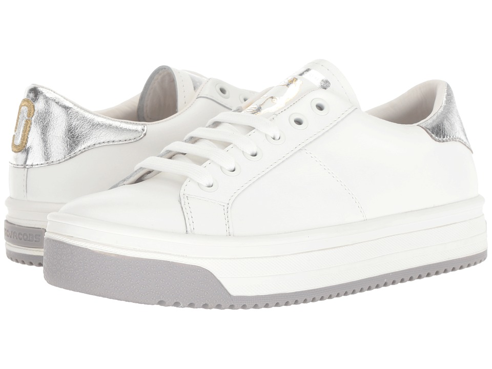 Marc Jacobs Empire Multicolor Sole Sneaker (White/Silver) Women's Shoes
