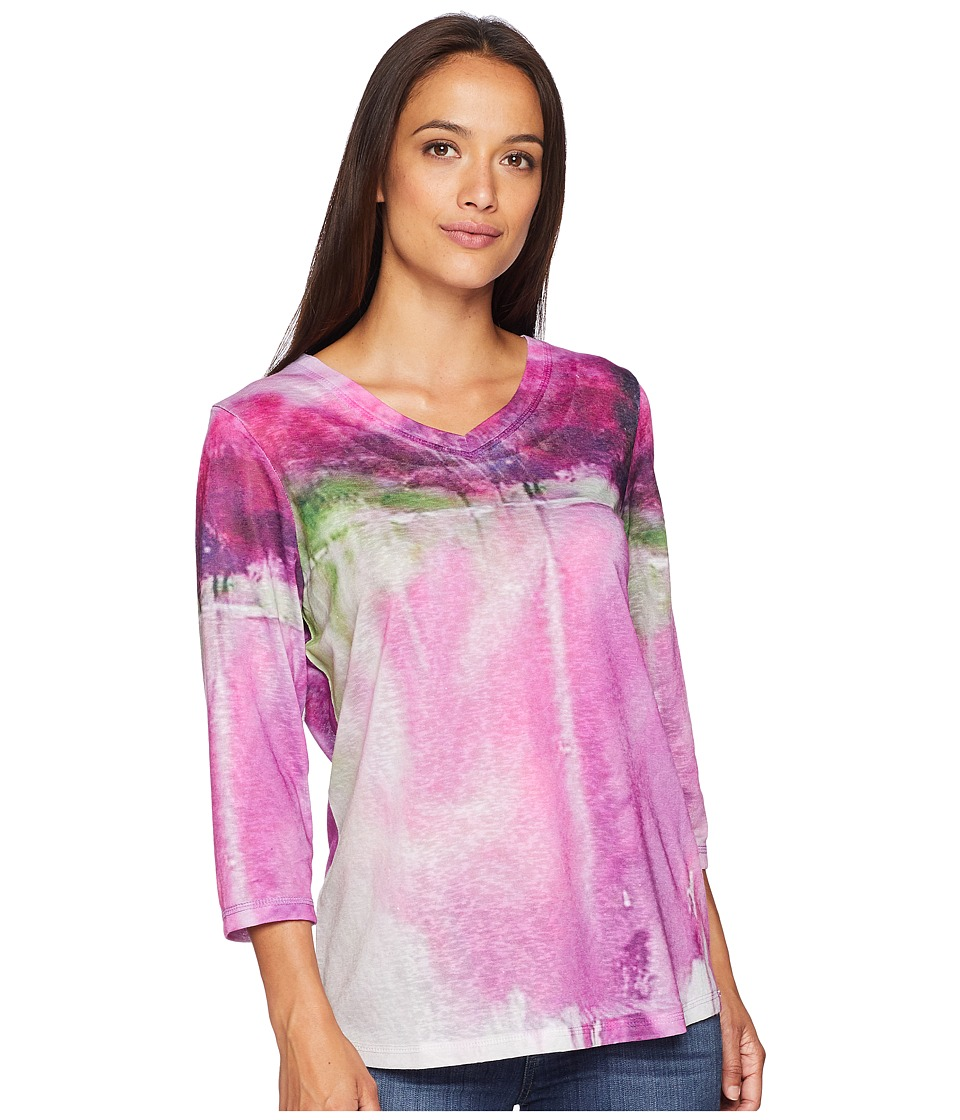 FDJ French Dressing Jeans - Lovely Reflection Print V-Neck Top (Multi) Womens Clothing