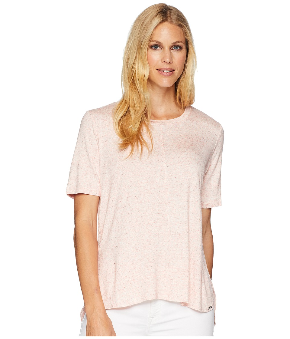 FDJ French Dressing Jeans - Semi Short Sleeve Crew Top (Coral Mix) Womens T Shirt