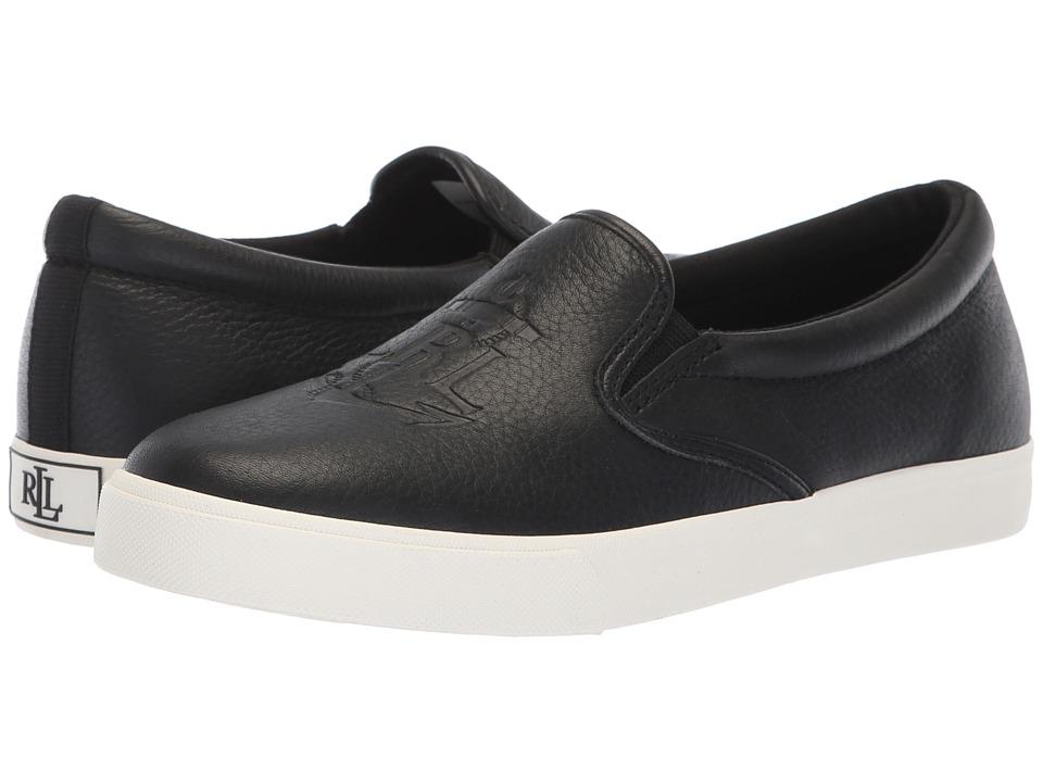 LAUREN Ralph Lauren Ricci (Black Tumbled Leather) Women's Shoes