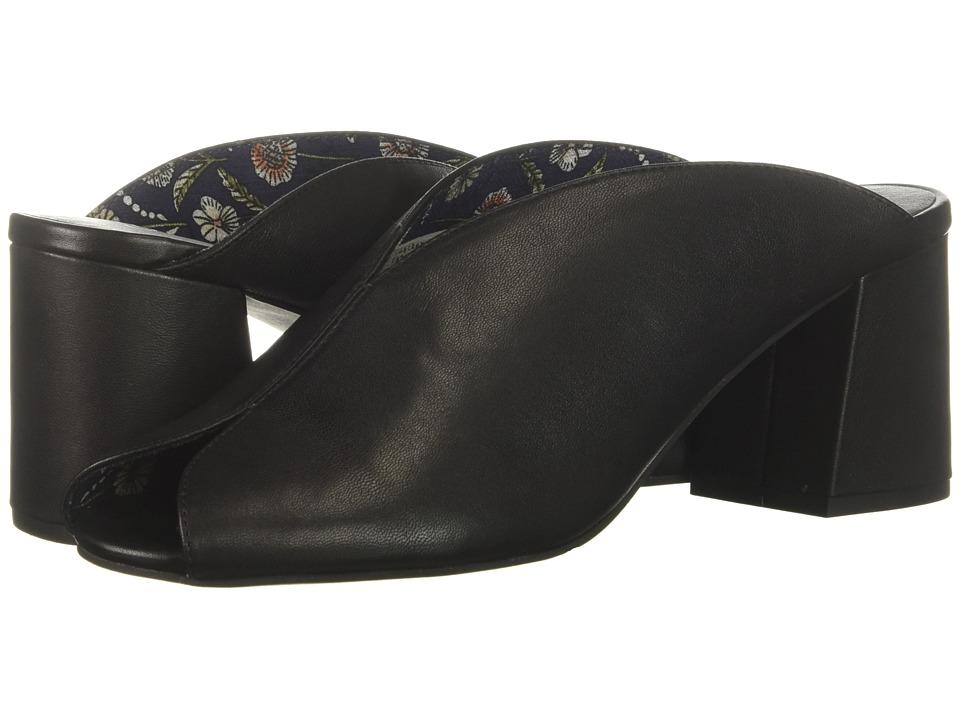 Seychelles By the Beach II (Black Leather) Women's Toe Open Shoes