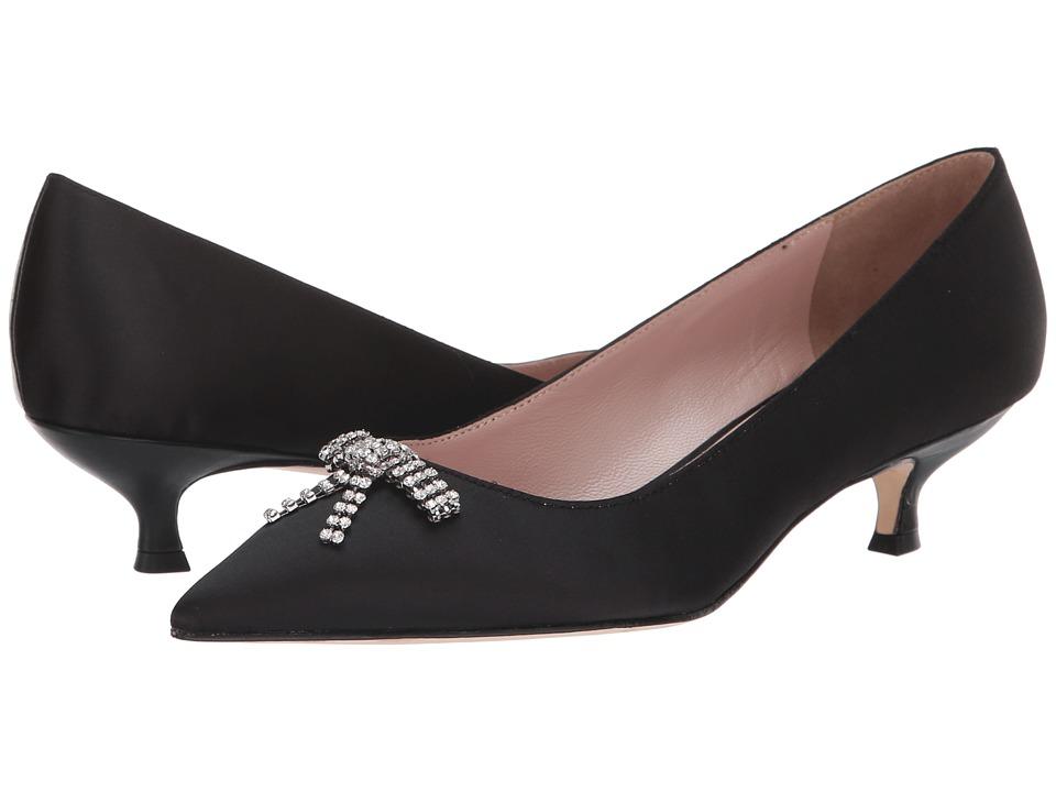 Kate Spade New York Derbie (Black Satin) Women's Shoes