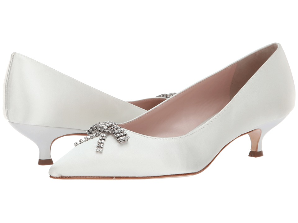 Kate Spade New York Derbie (Ivory Satin) Women's Shoes