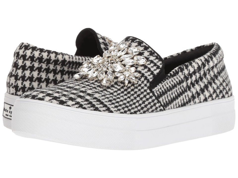 Kate Spade New York Gizelle (Black/White Houndstooth Wool) Women's Shoes