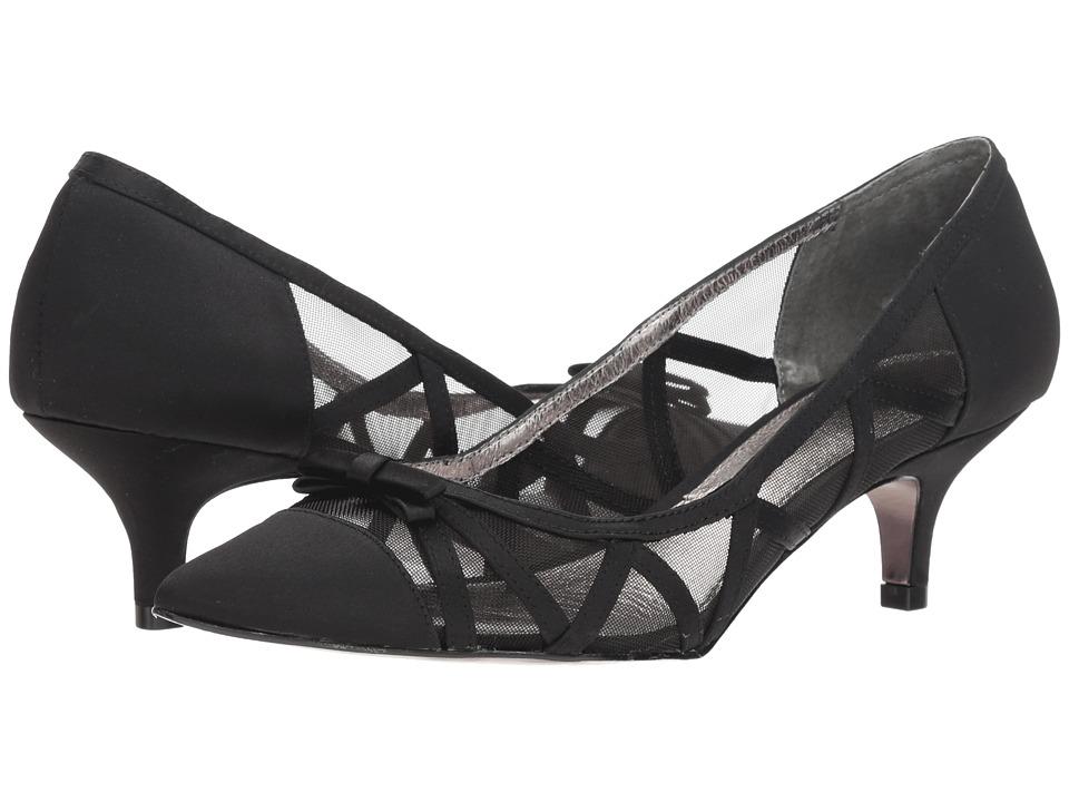 Adrianna Papell Lana (Black Satin) Women's Shoes