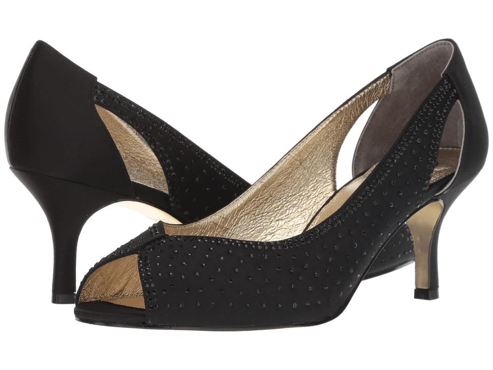 Adrianna Papell Jenna (Black Classic Satin) Women's Shoes