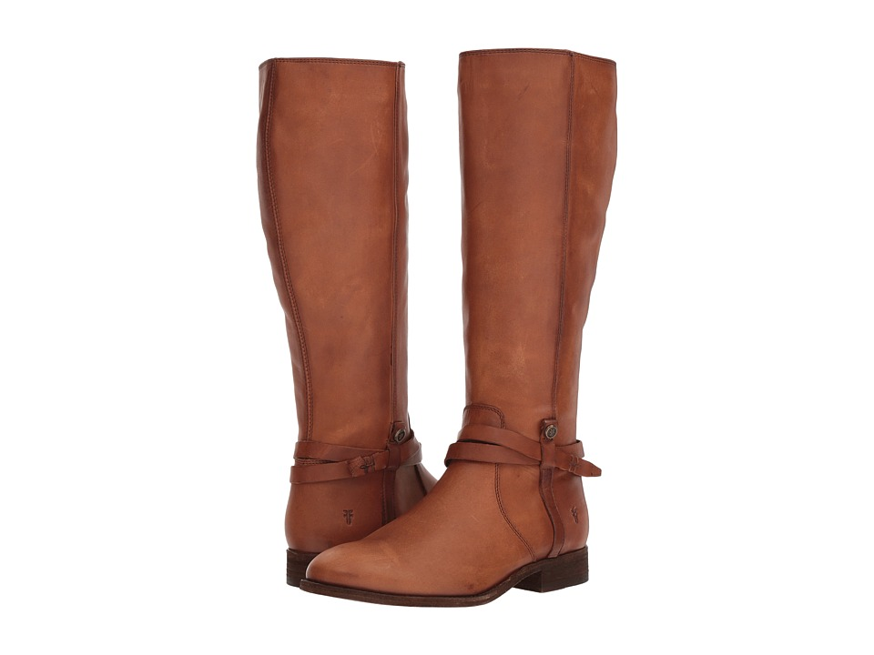 Frye Melissa Belted Tall (Light Cognac Extended) Women's  Boots