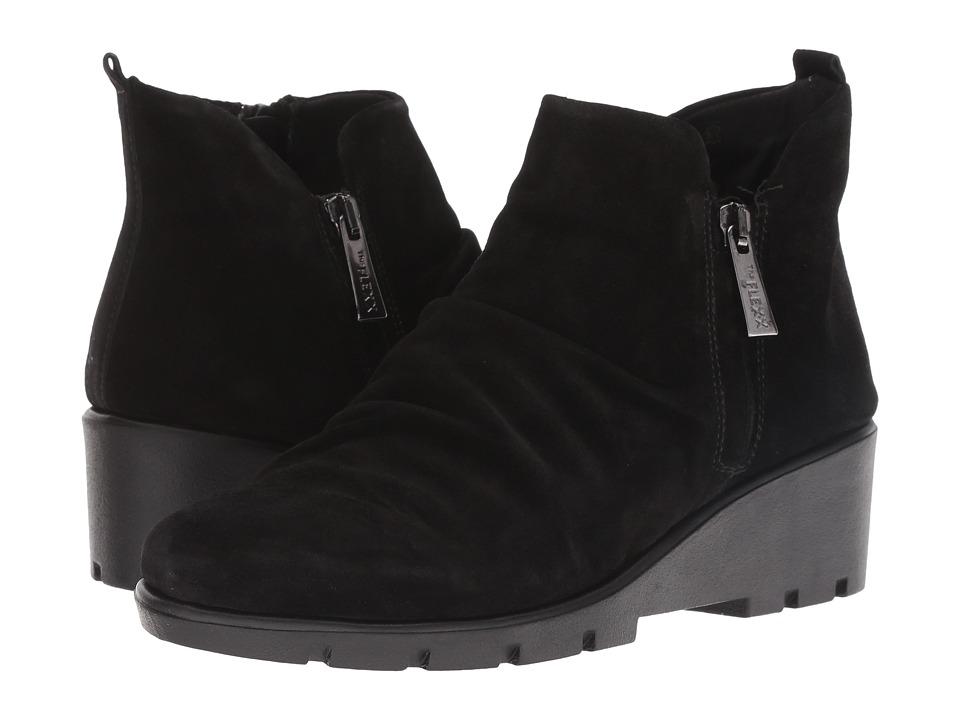 The FLEXX Sling Shot (Black Waterproof Suede) Women's Shoes