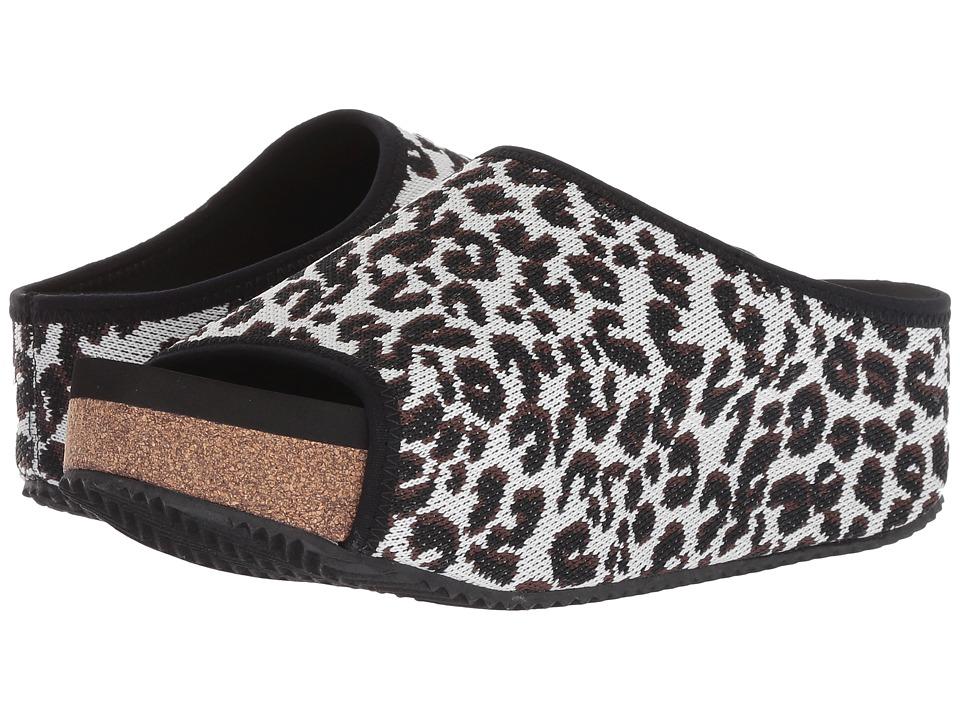 VOLATILE Lexa (White/Leopard) Slides