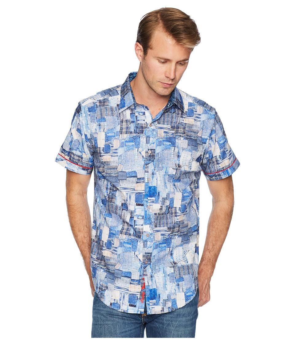Robert Graham - Canberra Short Sleeve Woven Shirt (Blue) Mens Clothing
