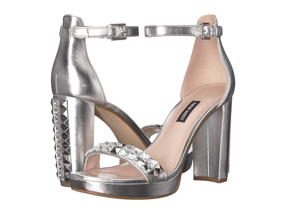 Nine West Dallerly (Silver Synthetic) Women