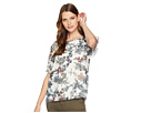 Vince Camuto Vince Camuto Ruffled Short Sleeve Garden Heirloom Floral Blouse