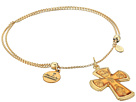 Alex and Ani Sacred Cross Precious Metal Finish Expandable Chain Bracelet w/ Silver Finish Filled Charm