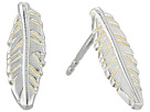 Alex and Ani Feather Post Earrings - Precious Metal