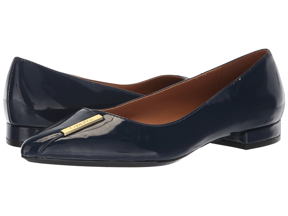 Calvin Klein Arline (Dark Navy Patent) Women's Shoes