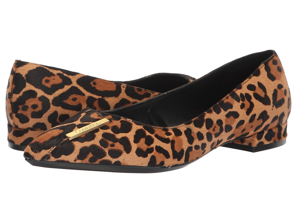 Calvin Klein Arline (Natural Winter Leopard Haircalf) Women's Shoes