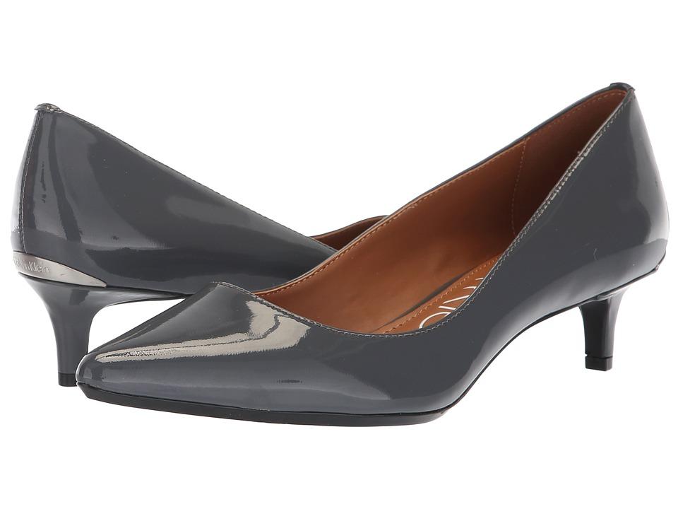 Calvin Klein Gabrianna Pump (Steel Greystone Patent) 1-2 inch heel Shoes