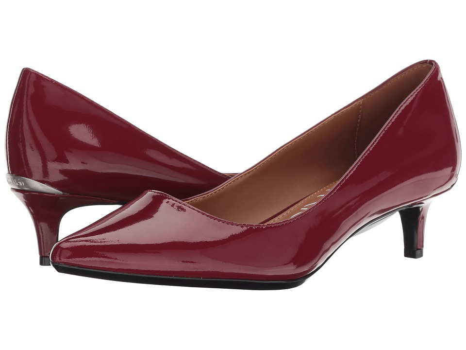 Calvin Klein Gabrianna Pump (Red Rock Patent) 1-2 inch heel Shoes