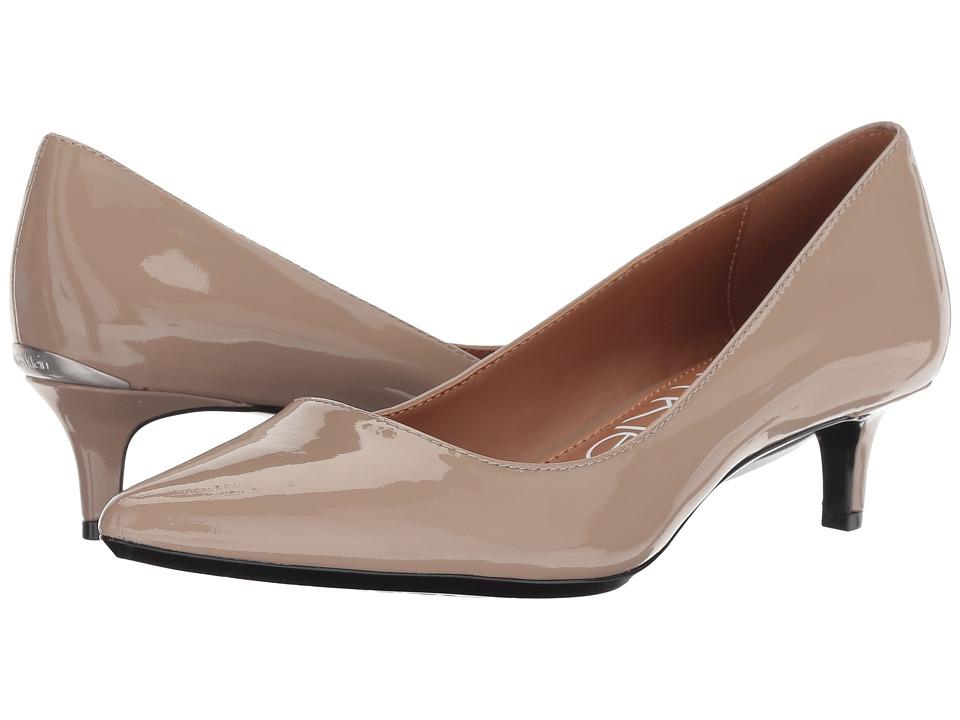 Calvin Klein Gabrianna Pump (Tobacoo Patent) 1-2 inch heel Shoes