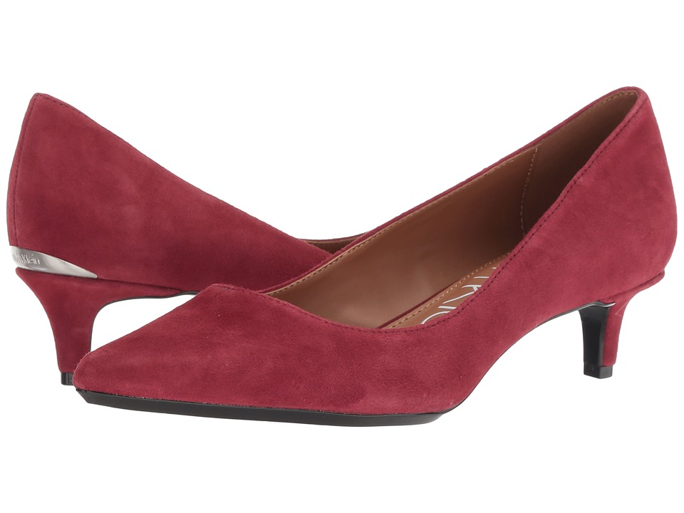 Calvin Klein Gabrianna Pump (Red Rock Kid Suede) 1-2 inch heel Shoes