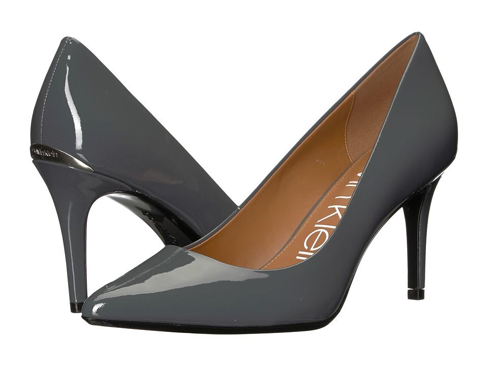 Calvin Klein Gayle Pump (Steel Greystone Patent) High Heels
