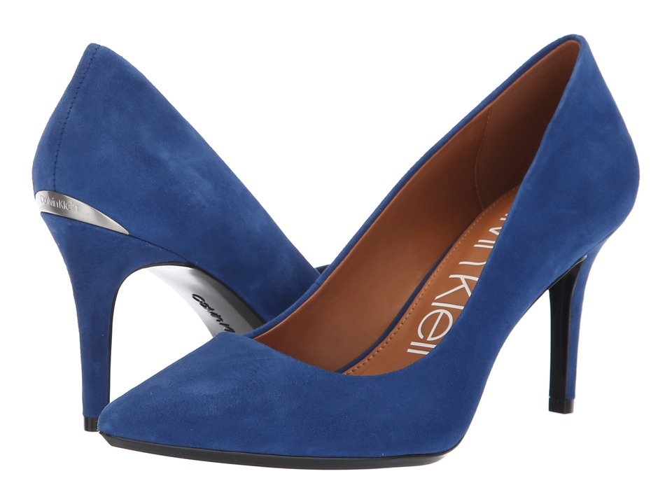 Calvin Klein Gayle Pump (Adrenaline Blue Kid Suede) High Heels