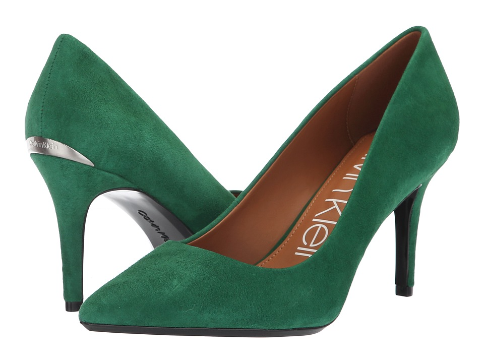 Calvin Klein Gayle Pump (Grass Green Kid Suede) High Heels