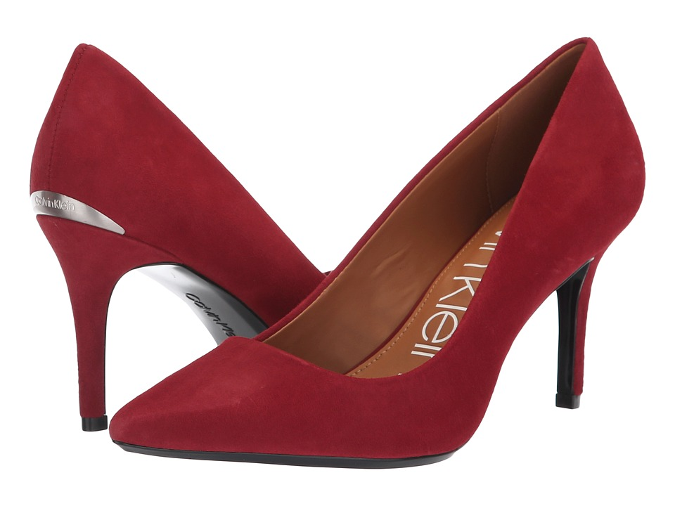 Calvin Klein Gayle Pump (Red Rock Kid Suede) High Heels
