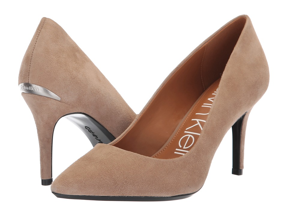 Calvin Klein Gayle Pump (Tobacco Kid Suede) High Heels