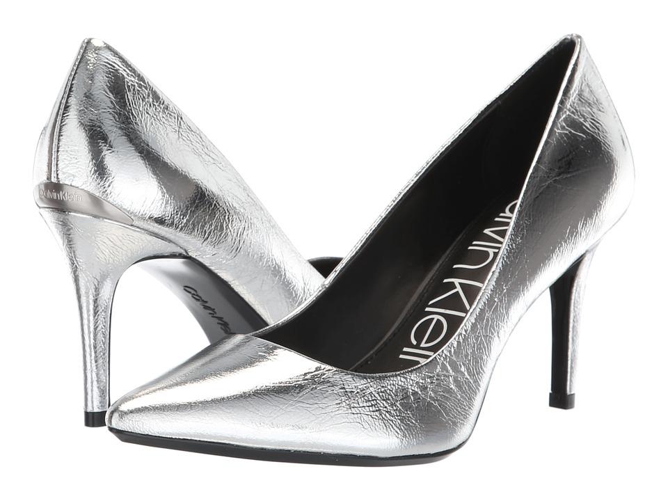 Calvin Klein Gayle Pump (Silver Paper Metallic) High Heels