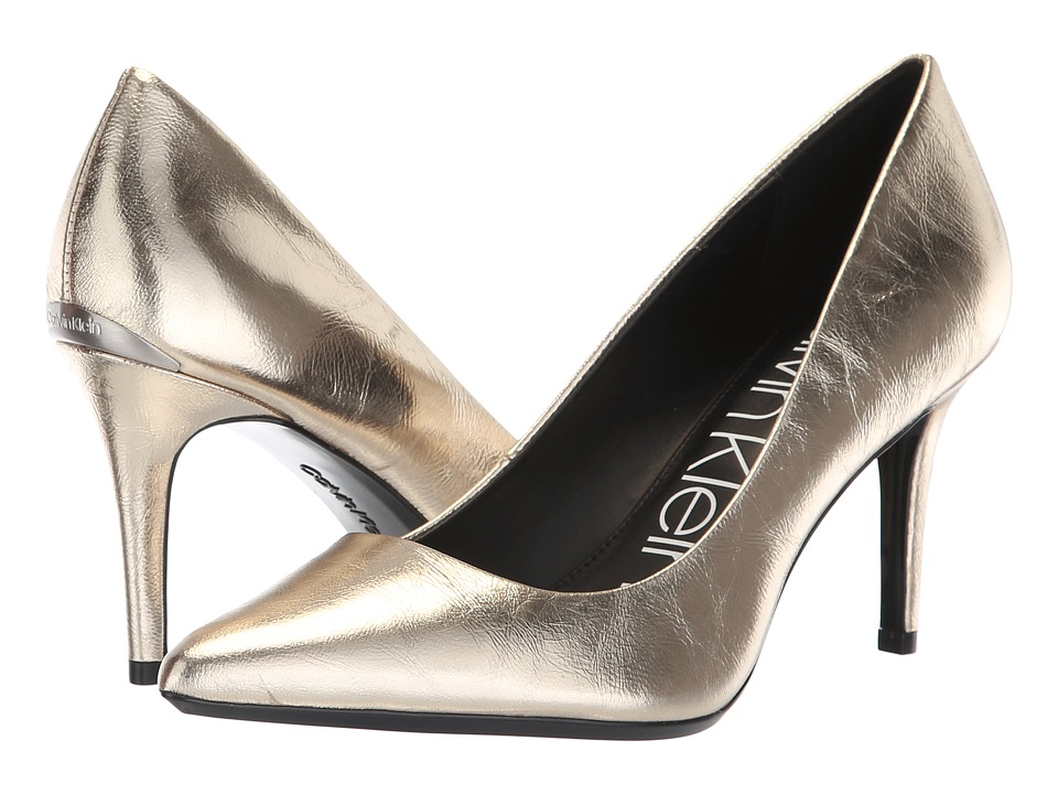 Calvin Klein Gayle Pump (Soft Gold Paper Metallic) High Heels