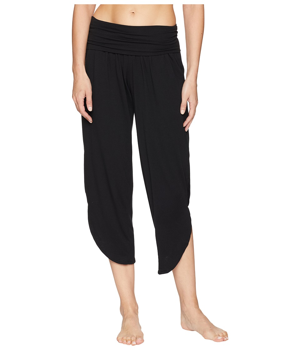 Onzie - Foldover Tulip Pants (Black) Womens Casual Pants