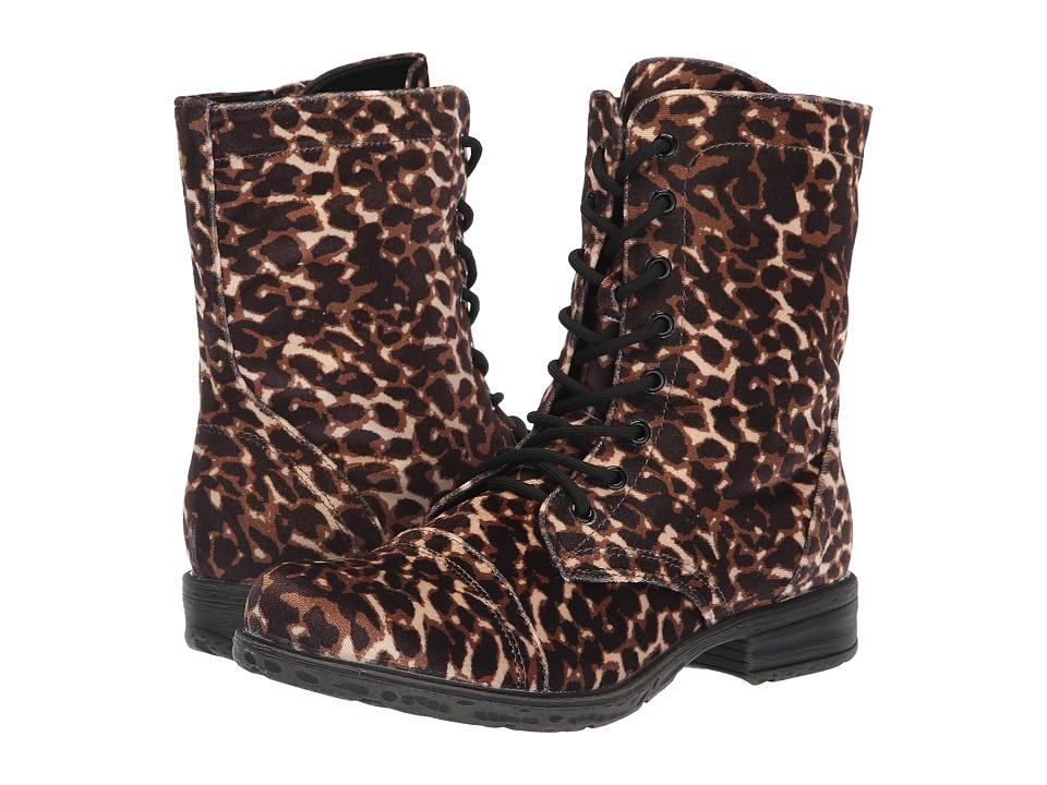 VOLATILE Avox (Black/Leopard) Women's Lace-up Boots