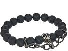 Dee Berkley Matte Black Agate Skull Chain Bracelet