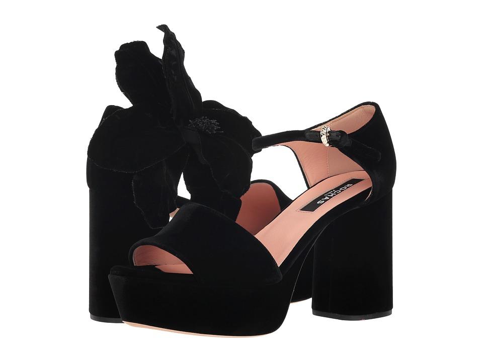 Rochas RO31090 (Black Velvet) Women's Shoes