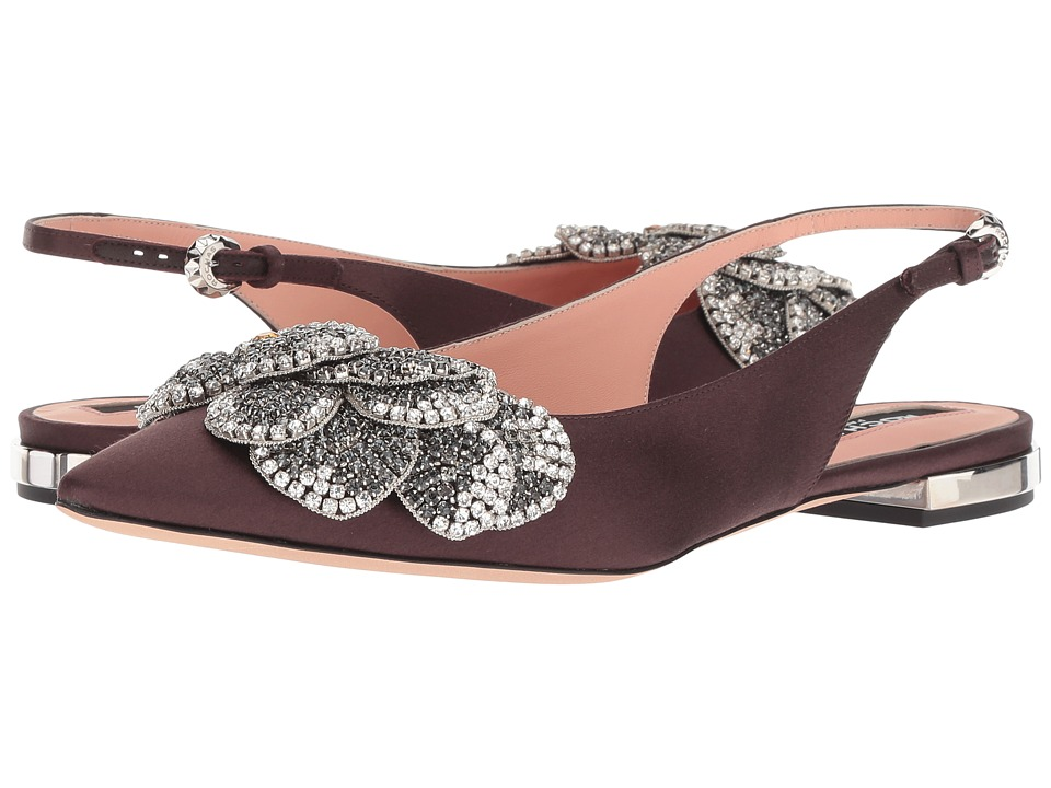 Rochas RO31111 (Dark Violet Satin) Women's Shoes