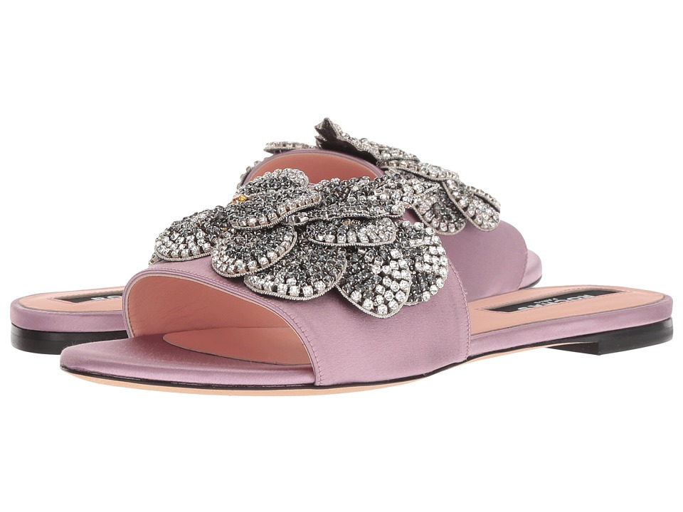 Rochas RO31113 (Light Violet Satin) Women's Shoes