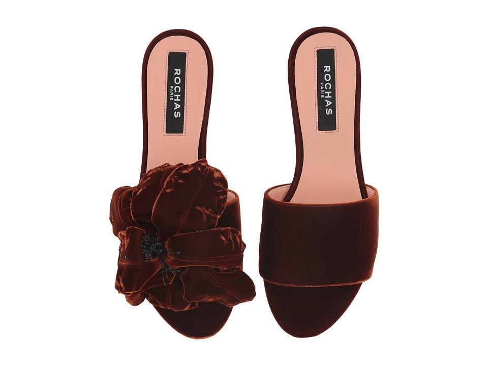 Rochas RO31092 (Tan Velvet) Women's Shoes