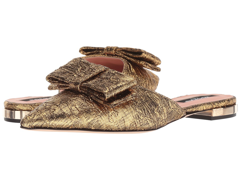 Rochas RO31133 (Gold Patterned Fabric) Women's Shoes