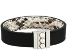 Majorica 5mm Mabe Pearls on Clasp Reversible Leather Bracelet 7 Long