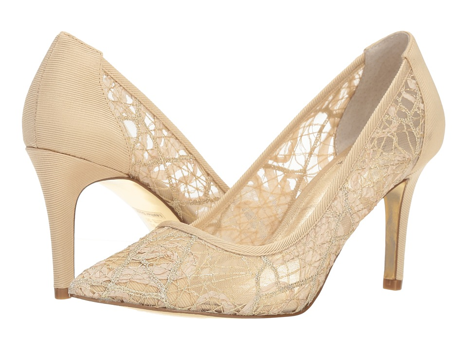 Adrianna Papell Hazyl (Gold Chagall Lace) Women's Shoes