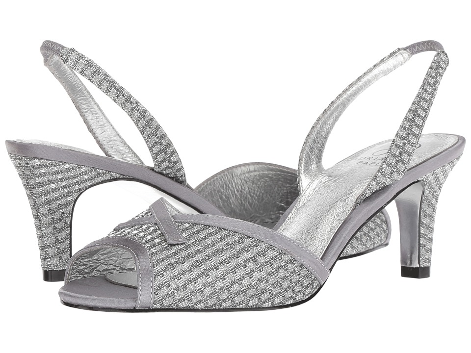 Adrianna Papell Jolene (Antique Silver Crystal Glitter) Women's Shoes