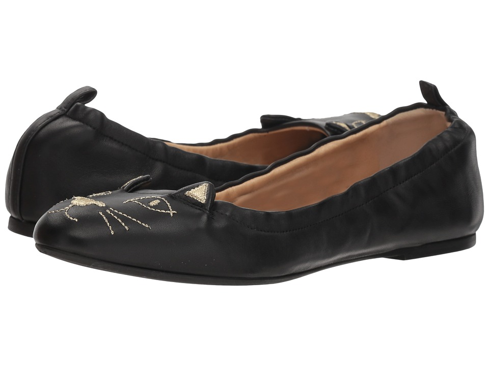 Charlotte Olympia Kitty Ballerina (Black) Women's Shoes