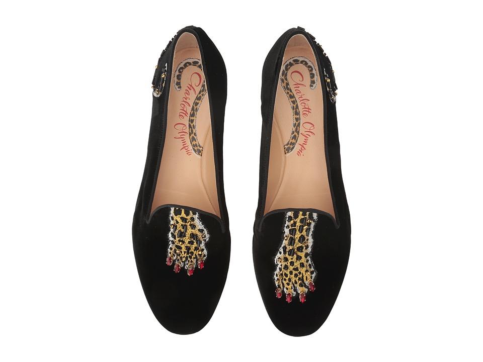 Charlotte Olympia Wild Nocturnals (Black Velvet) Women's Shoes