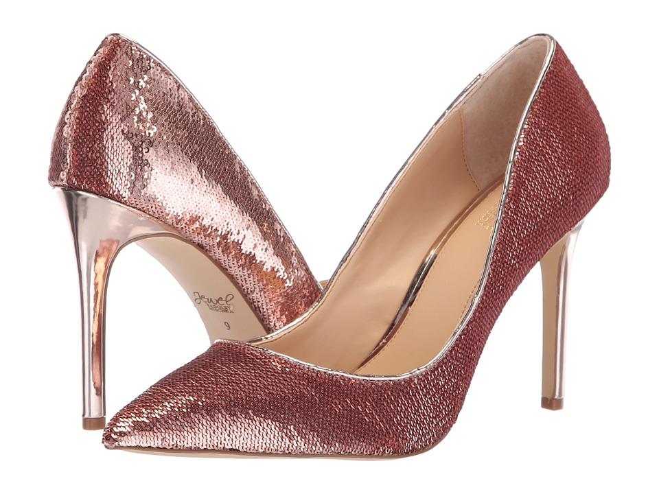 Jewel Badgley Mischka Jade (Rose Gold) Women's Shoes