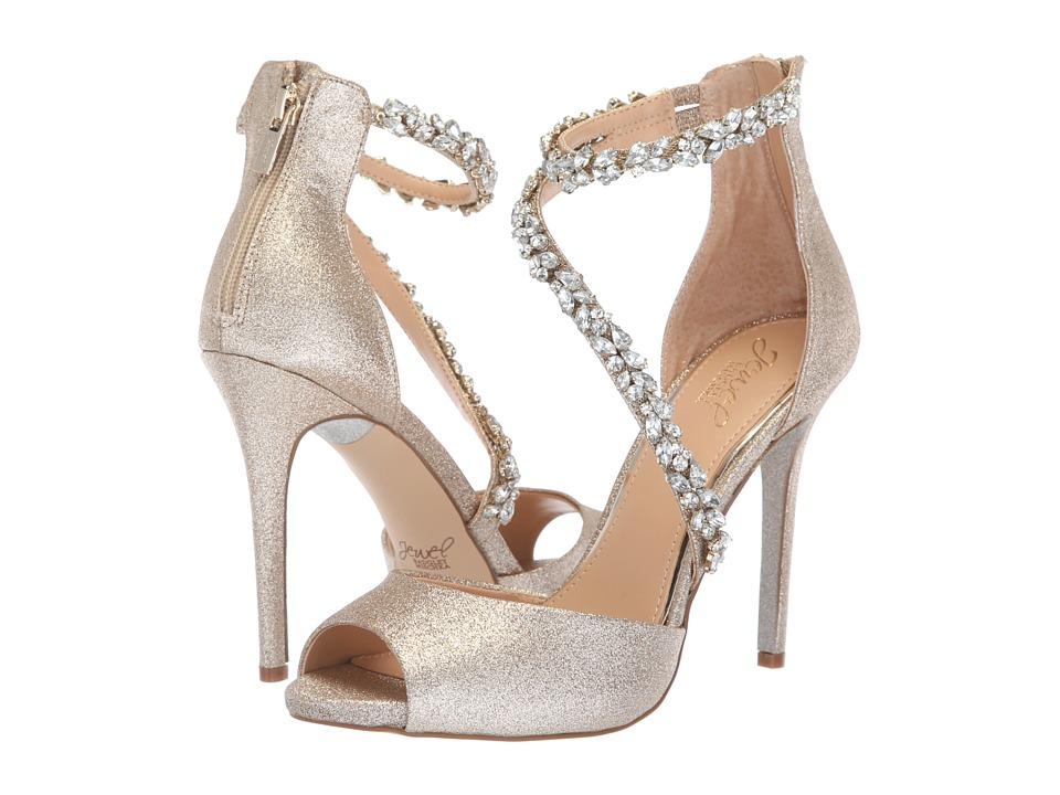 Jewel Badgley Mischka Javier (Light Gold) Women's Shoes