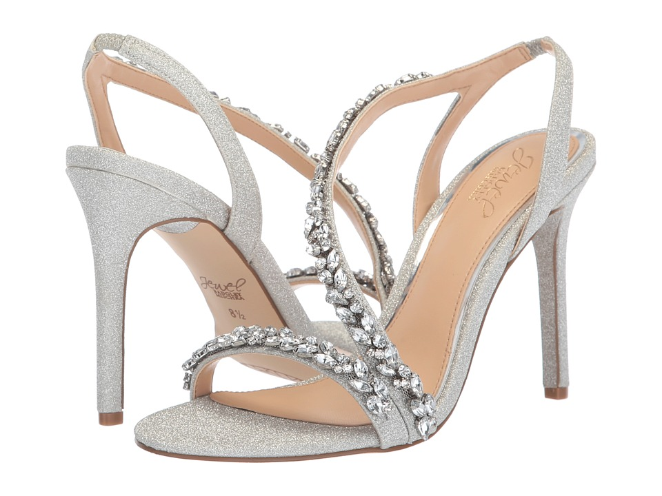 Jewel Badgley Mischka Java (Silver) Women's Shoes